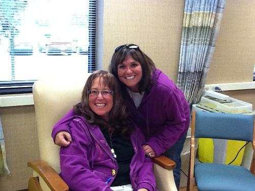 Lisa and Beth - Girls in purple!