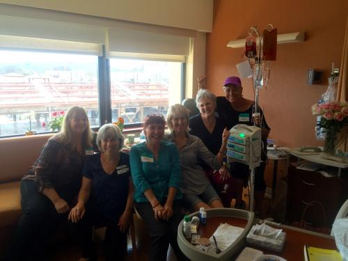 A big day for visitors! In this pic my friends Athena, Beth, Terry, Roxie and Betty were spending time with me. My friends Sue and Tara were also frequent visitors (sometimes with husbands Wade and Charlie!). I was also honored that Alice M. came to visit. Sue's sister Janet also stopped by.