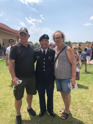 Gary, Ben and Jean at Army Boot Camp  graduation August 2018