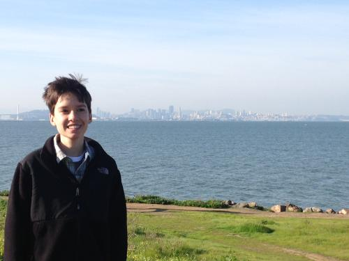 At the Berkeley Marina with SF in the background
