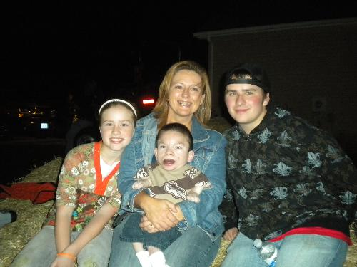 On Fall Hayride. Beautiful night.