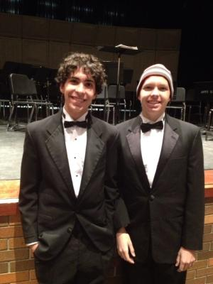 Cooper rocked his stocking cap with his tux at the Rock Bridge High Winter Concert with pride!