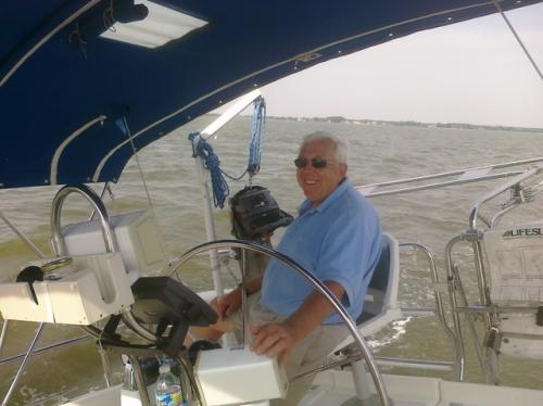 Captain Terry on Chinook Wind sailing vessel.