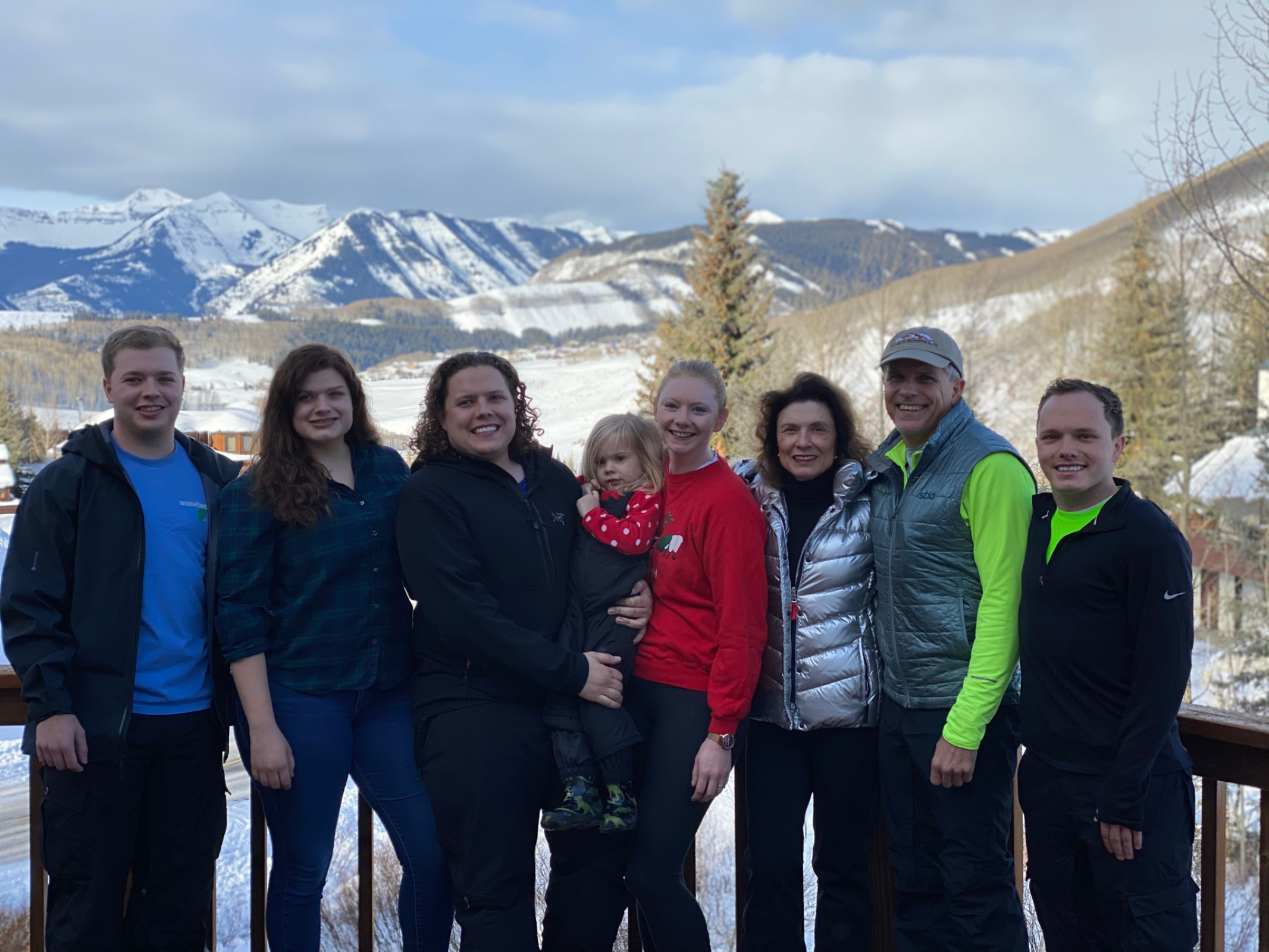 Christmas in Crested Butte (L to R: Kurt, Tori, Austin, Mackenzie, Shannon and Travis)
