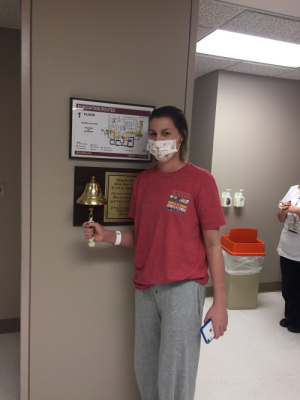 Finished radiation. Ringing the bell!