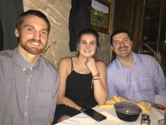 Sendoff dinner at Porcini's 2/9/18