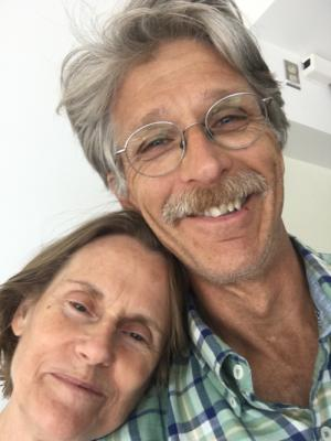 Mom and Dad have perfected the Art of the Selfie. Taken today, July 10, in their spacious new suite at UW Medical Center.