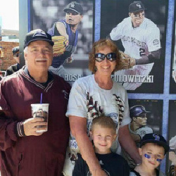 Opening Day 2015 with Joe and the grandkids