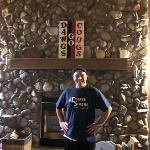 Brian Sanderson is #ChanceStrong in front of his very impressive fireplace in Yakima, WA.