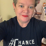 One of Chance's favorite teachers at El Segundo High School, Ms. Bonnie Maye, got her #ChanceStrong gear going on. Thank you, Ms. Maye, for being such a great bookend teacher (freshman year and second-semester senior year) for Chance and for all of your kindness and support of our family.