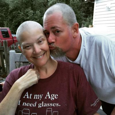 Right after my wonderful husband shaved my head.