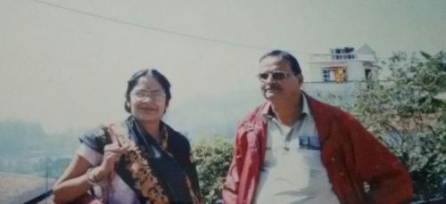 With my husband Subrata Bhattacharya