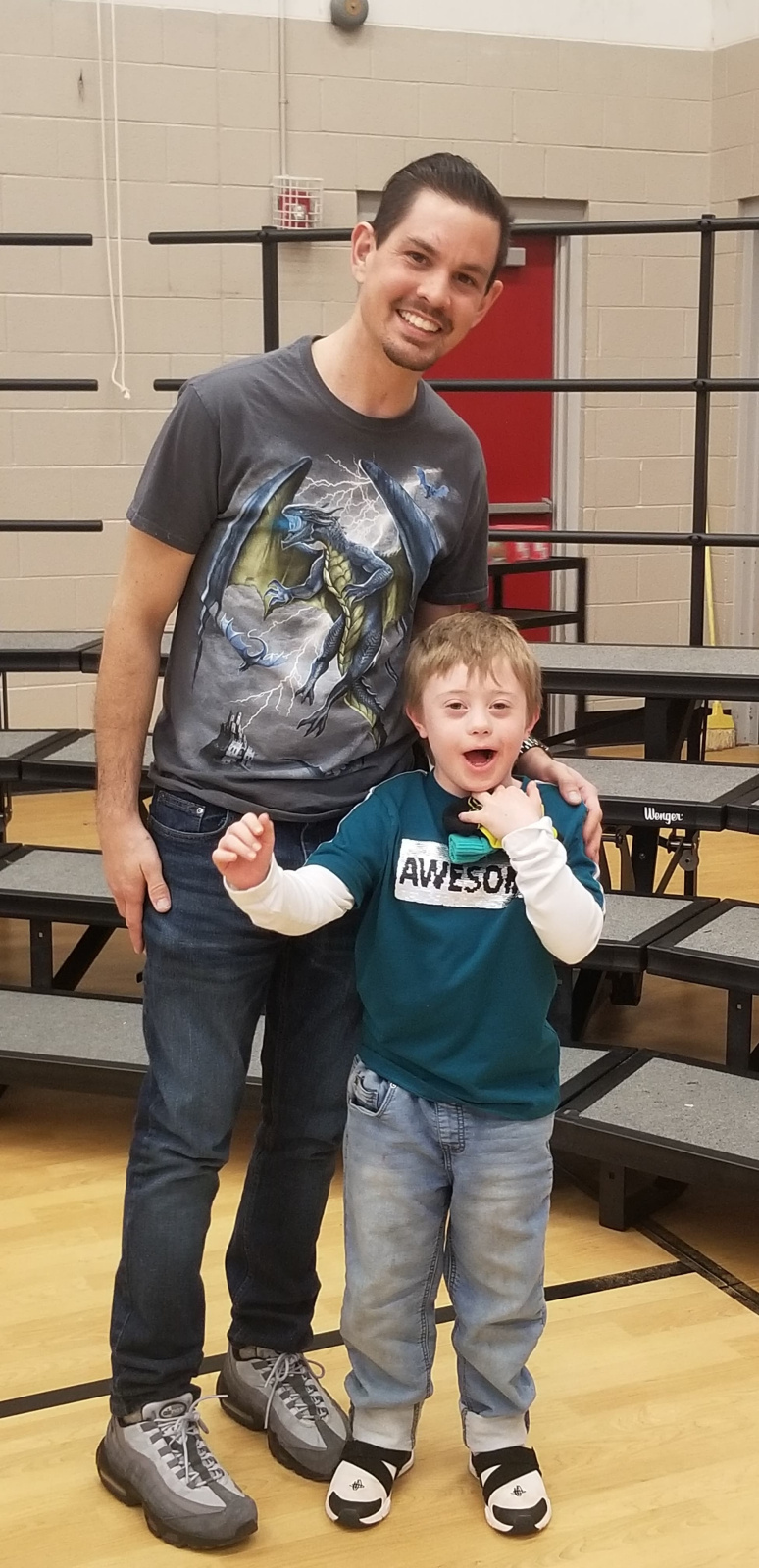With his adorable stepson at a school event :)