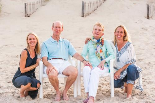 Heather and Andrea with Steve & Judi at the outer banks 2015