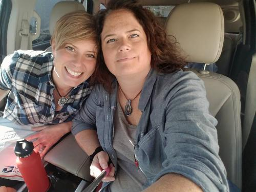 Molly and Megan on the road