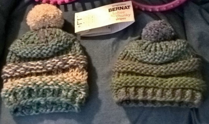 Two hats I recently made.