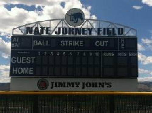The official scoreboard at Ralston Valley. What an honor. Thank you!!!!!!!