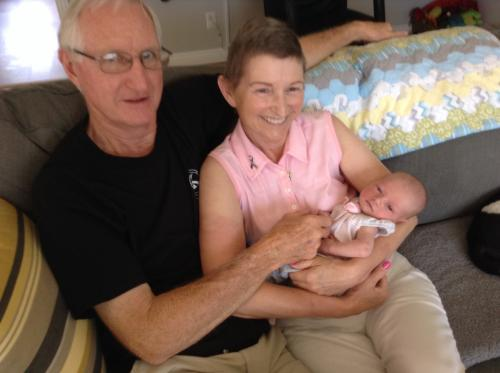 Grandpa Don, Grandma Lois and Camille, 48 hours old.