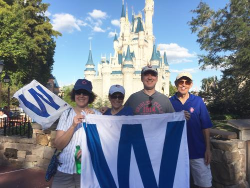 Celebrating the WORLD CHAMPION CHICAGO CUBS at the Magic Kingdom. Javey Baez, Addison Russell and Ben Zobrist were honored in a special parade.
