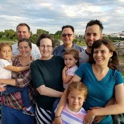 The Arnie Wulf family clan - at Falls Park in Sioux Falls on 6/22/17