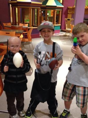 Three amigos! Our neighbors at RMH.