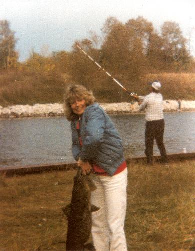 Grandma and her fish that is bigger then her!!!