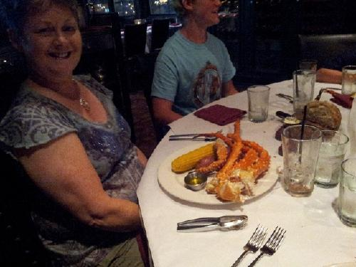 Alaskan King Crab Legs. . . . Mmmmm. (My sister, Charlotte from Daytona Beach)