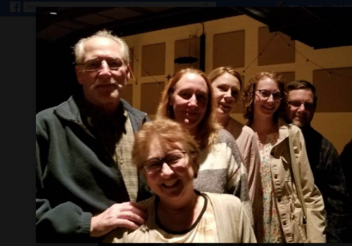 Family at The Little Mermaid production by Marian-Rice Players March 2018