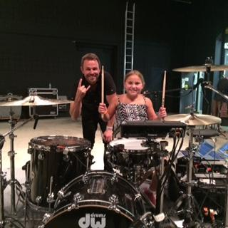 Casey invited on stage by Rachel Platten's drummer - woo hoo!!!