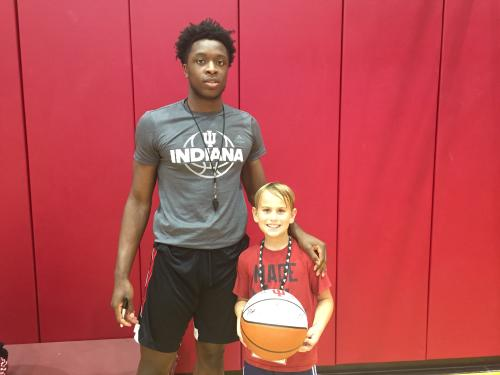 Collin at IU basketball camp with OG !!!