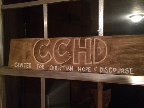 """Dad has a vision that he will start a """"coffee house devotional space"""" at the house. He plans to call it the Center for Christian Hope and Discourse"""