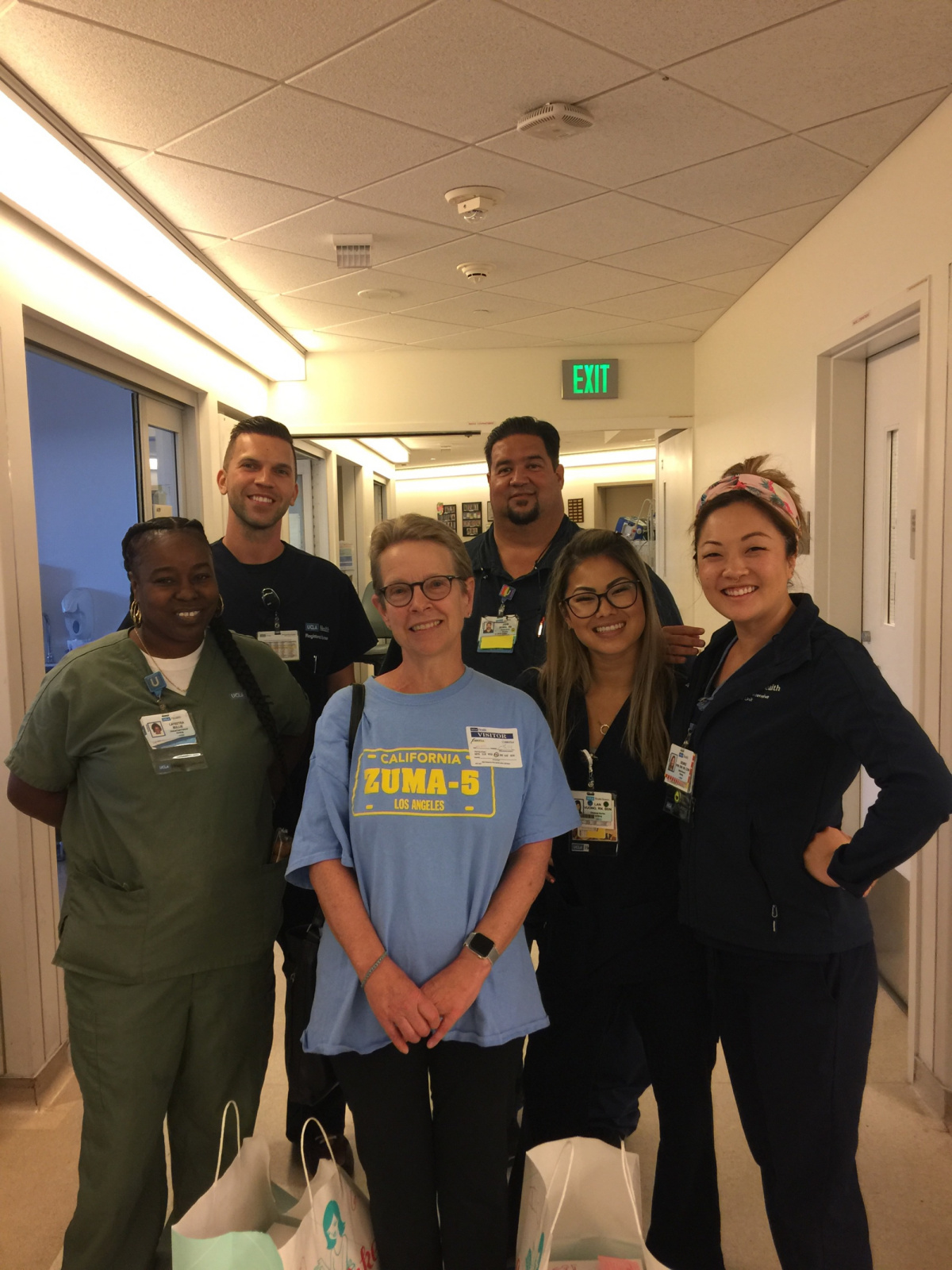 Staff on 6E, the transplant floor where I received my CAR-T cells