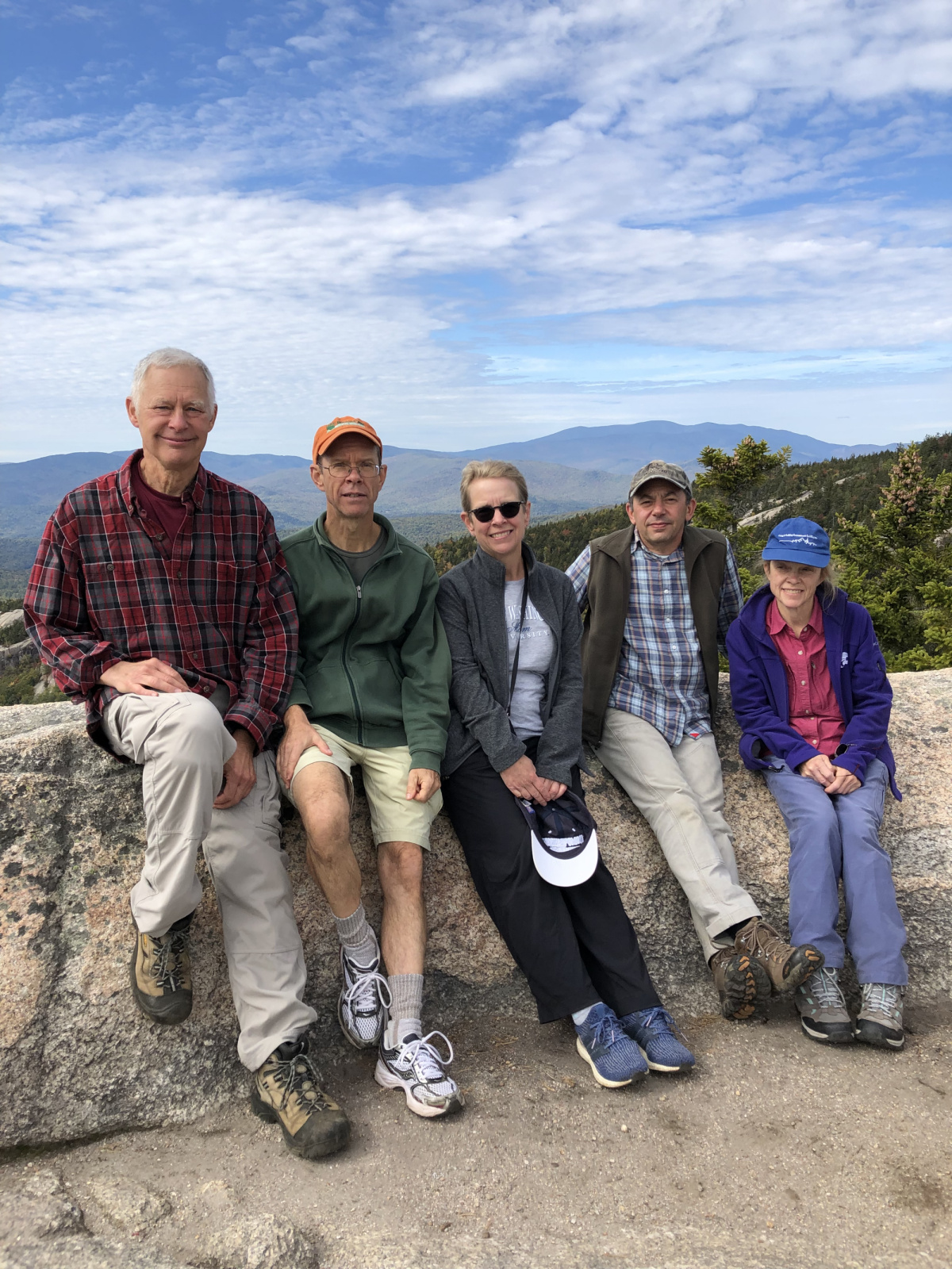 Bob, Bruce, me, Charlie and Ginger in the White Mountains of NH
