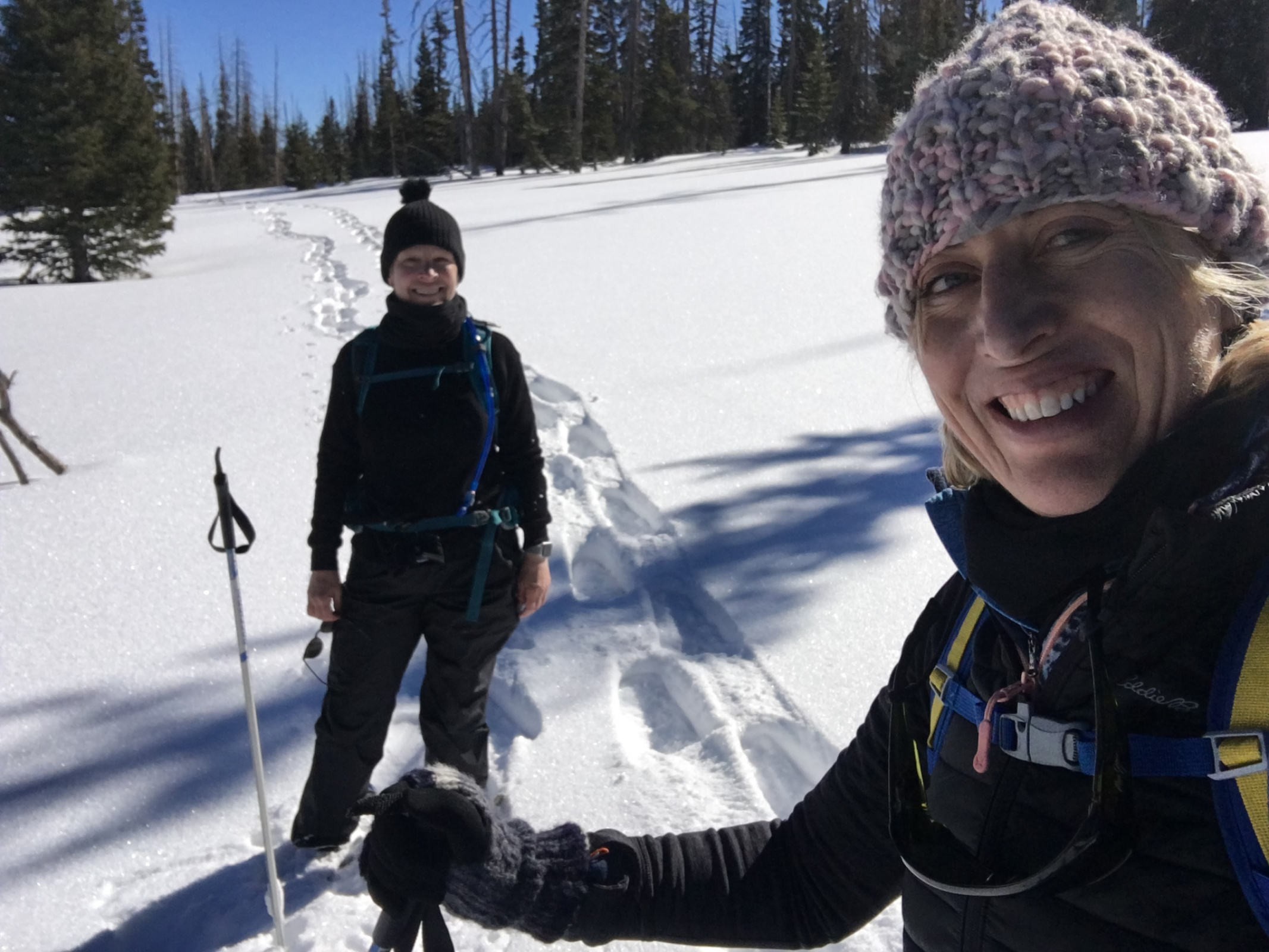 Snow shoeing in Brian Head, Utah