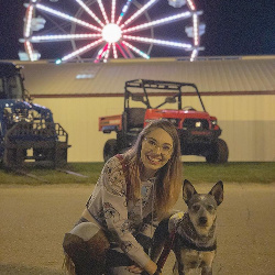 Cupid & I at the Vernon County Fair 2018- This was the first time ive been to the Vernon county fair & was able to go and have fun thanks too Cupid