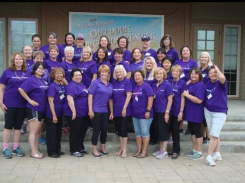My cancer support group - me in front middle