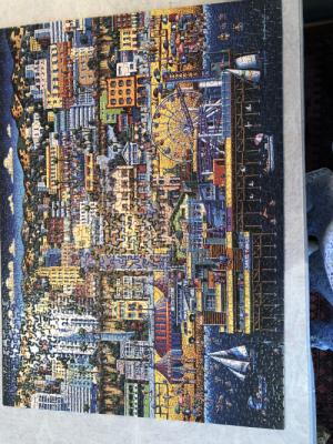 I started this puzzle during my Neulasta pain to distract myself and finished it last night. Love puzzles!