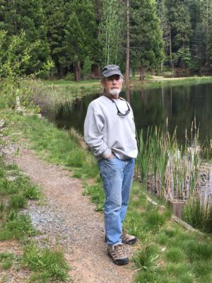 Tom on walk around Snowshoe Lake (5/16/16)