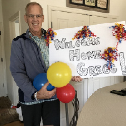 After 17 days in the transplant unit, he's home!