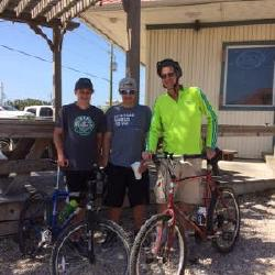One year of the diagnosis of stage 4 lung cancer...a 14 mile bike ride with grandsons on St. George Island, Florida!