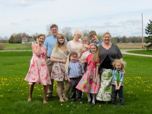 Entire family on Easter Sunday