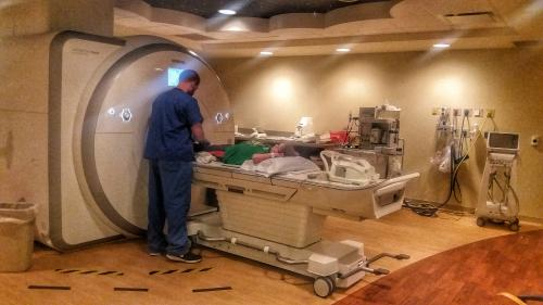 Getting his MRI