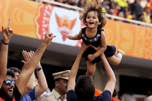 Pure Joy! Everyone loved the essence of IPL captured in this shot with the smiling child and the energy within the crowd.