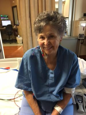 Photo taken last Saturday while Mary was in ICU - I'd say a pretty good looking lady!!