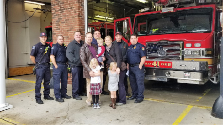 11/02/2018 - The EMS team from Station 41 in Washington Township who saved Rick's life