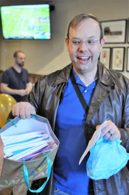 11/17/2018 - A get-well gift for Rick from Amanda, Chelsea, Aunt Marcia, and Aunt Cheri - a bag of straws, haha!
