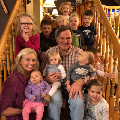 Thankful for 11 grandchildren