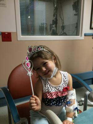 ER Nurse câme and brought 'Beans' a princess pack. Even found her princess fishy crackers