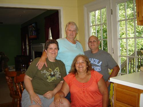 left to right, Tara, mother Cecil, sister Lisa and brother Jody. Taken June 30th, 2012.