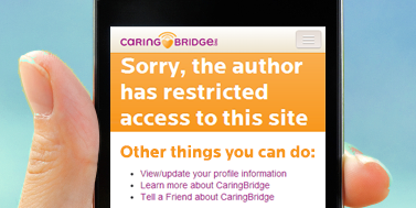 The Privacy You Choose for Your CaringBridge site image